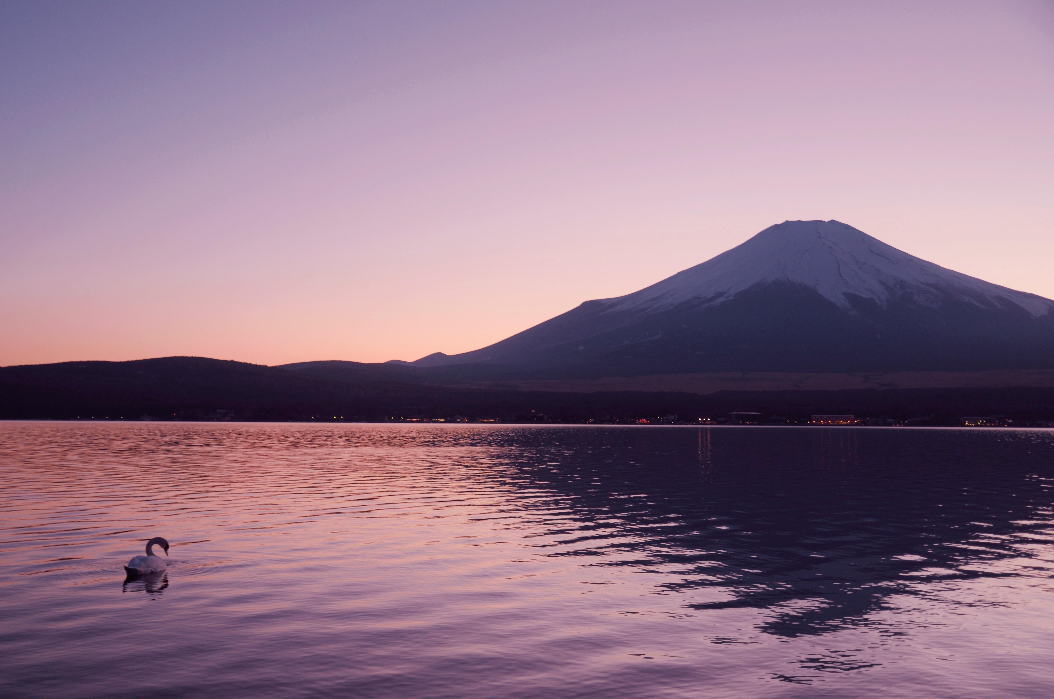 湖畔の夕景_201801-03